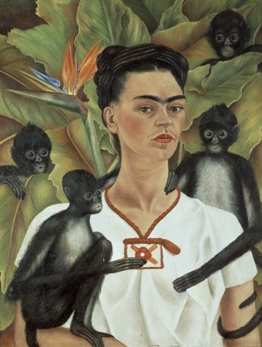 Self-portrait+with+monkeys_Frida+Kahlo-370x490